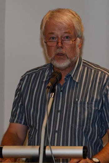 Peter Wendlandt bei der Begrüßung