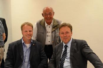 Klaus Becker, Wolfgang Dernedde und Thomas Oppermann