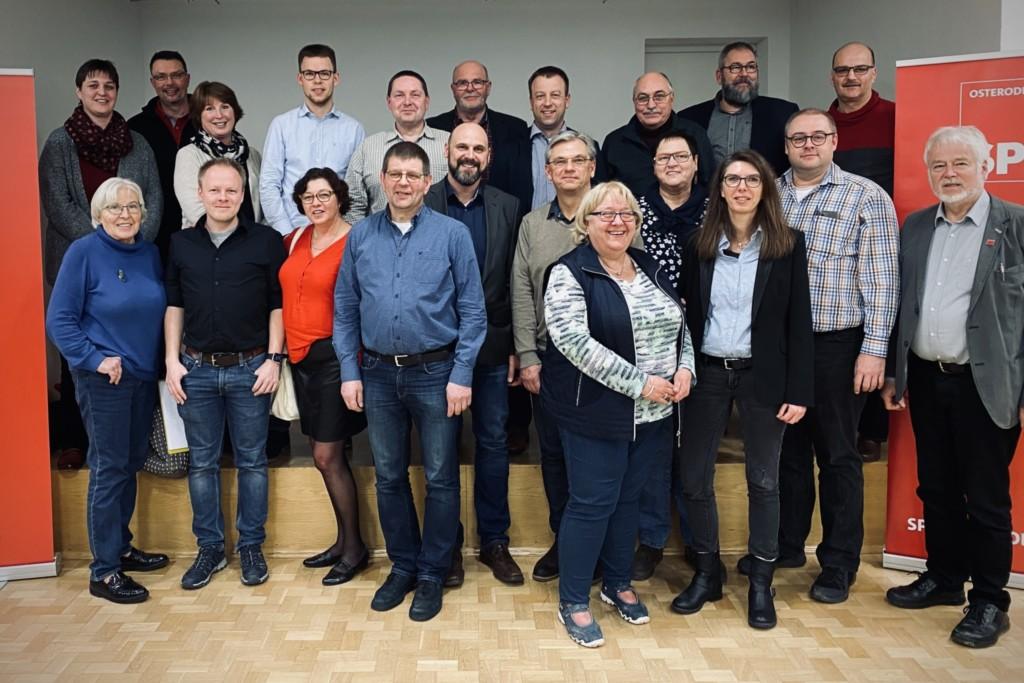 Der neugewählte SPD-Ortsvereinsvorstand
